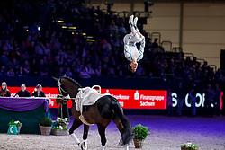HEILAND Jannik (GER), Highländer<br /> Leipzig - Partner Pferd 2018   <br /> FEI World Cup Vaulting Einzel Herren 2. Runde<br /> © www.sportfotos-lafrentz.de/Stefan Lafrentz
