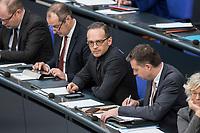 14 FEB 2019, BERLIN/GERMANY:<br /> Heiko Maas (M), MdB, SPD, Budnesaussenminister, Bundestagsdebatte, Plenum, Deutscher Bundestag<br /> IMAGE: 20190214-01-085<br /> KEYWORDS: Bundestag, Debatte