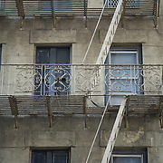Windows and Fire Escapes of a Typical NY Building