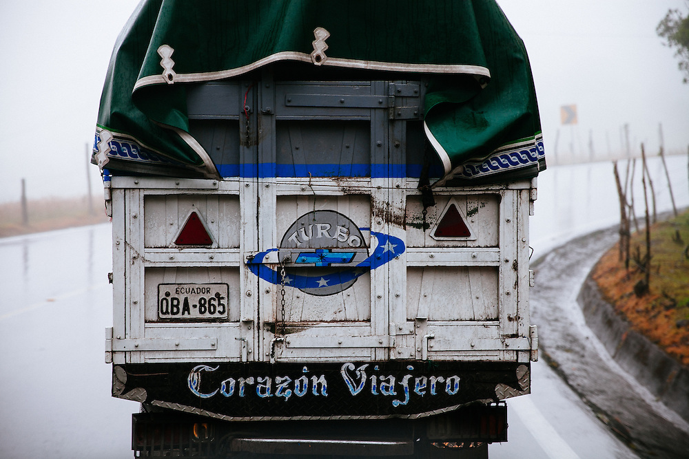 Navigating treacherous roads through La Sierra (the highlands) on the way to Guango Lodge, Ecuador.
