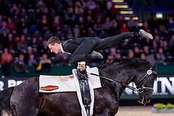 HEILAND Jannik (GER), Dark Beluga<br /> Leipzig - Partner Pferd 2019<br /> FEI Vaulting World Cup<br /> Herren / Male<br /> 18. Januar 2019<br /> © www.sportfotos-lafrentz.de/Stefan Lafrentz