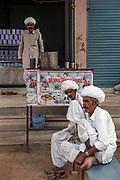 Dhil tribesmen at goats milk store near Jodhpur