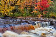 Sturgeon River in autumn near Alberta in the Upper Peninsula of Michigan, USA