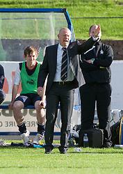 Falkirk's manager Gary Holt.<br /> Cowdenbeath 1 v 0 Falkirk, 14/9/2013.<br /> &copy;Michael Schofield.