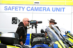 Bikers Chas McLeod and Jock McGaughay with the camera and Bike<br /> <br /> (c) David Wardle | Edinburgh Elite media