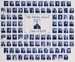 2001 Yale Divinity School Senior Portrait Class Group Photograph