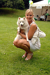Presenter LIZ FULLER with her dog Amber at Macmillan Dog Day in aid of Macmillan Cancer Support, held at Royal Hospital Chelsea, London on 3rd July 2007.<br /><br />NON EXCLUSIVE - WORLD RIGHTS
