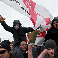 EDL protest in Luton on February 5, 2001