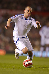 Manchester, England - Tuesday, March 13, 2007:  Europe XI's Stelios Giannakopoulos in action against Manchester United during the UEFA Celebration Match at Old Trafford. (Pic by David Rawcliffe/Propaganda)