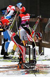 28.12.2011, DKB-Ski-ARENA, Oberhof, GER, Viessmann FIS Tour de Ski 2011, Training, im Bild Jens Filbrich (GER) zieht seine Ski an // during of Viessmann FIS Tour de Ski 2011, in Oberhof, GERMANY, 2011/12/28. EXPA Pictures © 2011, PhotoCredit: EXPA/ nph/ Hessland..***** ATTENTION - OUT OF GER, CRO *****