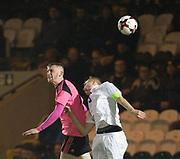 Scotland's Oliver McBurnie and Estonia's Morten Kuusk - Scotland under 21s v Estonia international challenge match at St Mirren Park, St Mirren. Pic David Young<br />  <br /> - © David Young - www.davidyoungphoto.co.uk - email: davidyoungphoto@gmail.com