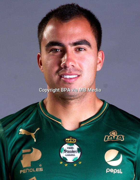 Mexico League - BBVA Bancomer MX 2014-2015 - <br /> Verdiblancos - Club Santos Laguna / Mexico - <br /> Hector Acosta