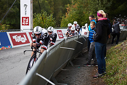 Lucinda Brand (NED) leads Team Sunweb at UCI Road World Championships 2018 - Women's Team Time Trial, a 54 km team time trial in Innsbruck, Austria on September 23, 2018. Photo by Sean Robinson/velofocus.com