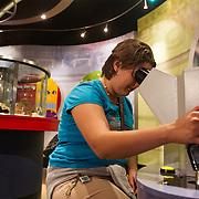 Chicago's Museum of Science and Industry (MSI) is the largest science museum in the Western Hemisphere. Interactive exhibits explaining the human genome. Photography by Jose More