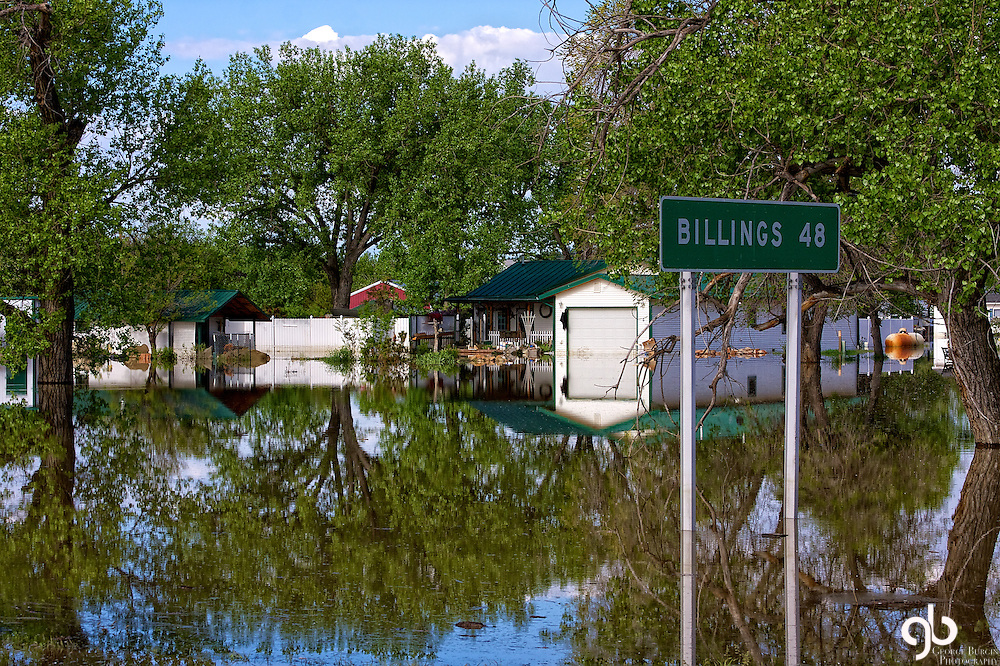 Flooding in Roundup, Montana during the spring of 2011.