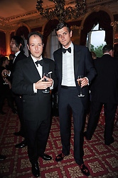 Left ro right, MATTHEW VAUGHN and ALEXANDER SPENCER-CHURCHILL at a dinner hosted by HRH Prince Robert of Luxembourg in celebration of the 75th anniversary of the acquisition of Chateau Haut-Brion by his great-grandfather Clarence Dillon held at Lancaster House, London on 10th June 2010.