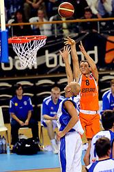 13-09-2008 BASKETBAL: NEDERLAND - IJSLAND: ALMERE<br /> De Nederlandse basketballers hebben hun tweede zege geboekt voor het ek van 2009 in de B-divisie. Oranje versloeg IJsland in almere met 84-68 / Kees Akerboom<br /> ©2008-WWW.FOTOHOOGENDOORN.NL