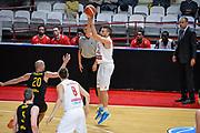 DESCRIZIONE : Varese FIBA Eurocup 2015-16 Openjobmetis Varese Telenet Ostevia Ostende<br /> GIOCATORE : Giancarlo Ferrero<br /> CATEGORIA : Tiro Tre Punti <br /> SQUADRA : Openjobmetis Varese<br /> EVENTO : FIBA Eurocup 2015-16<br /> GARA : Openjobmetis Varese - Telenet Ostevia Ostende<br /> DATA : 28/10/2015<br /> SPORT : Pallacanestro<br /> AUTORE : Agenzia Ciamillo-Castoria/M.Ozbot<br /> Galleria : FIBA Eurocup 2015-16 <br /> Fotonotizia: Varese FIBA Eurocup 2015-16 Openjobmetis Varese - Telenet Ostevia Ostende