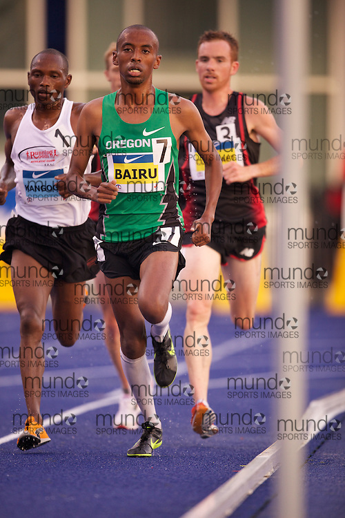 Simon Bairu runs to victory in the 10,000 metres at the 2010 Canadian Track and Field Championships in Toronto, Ontario, July 28, 2010...Geoff Robins/ Mundo Sport Images