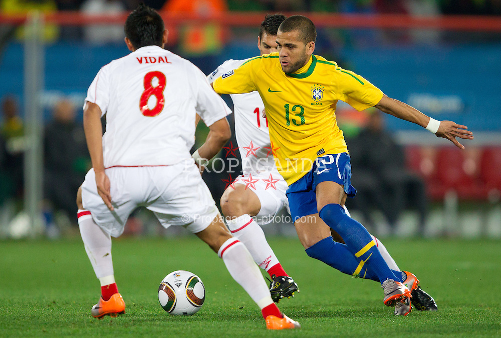 Dani Alves of Brazil during the 2010 FIFA World Cup South Africa. EXPA Pictures © 2010, PhotoCredit: EXPA/ Sportida/ Vid Ponikvar +++ Slovenia OUT +++