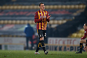 Bradford City's Callum Cooke(26) applauds the fans at full time during the The FA Cup match between Bradford City and Shrewsbury Town at the Utilita Energy Stadium, Bradford, England on 19 November 2019.