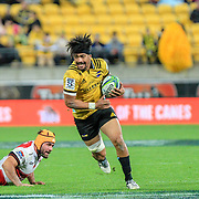 Aride Savea during the Super rugby (Round 12) match played between Hurricanes  v Lions, at Westpac Stadium, Wellington, New Zealand, on 5 May 2018.  Hurricanes won 28-19.