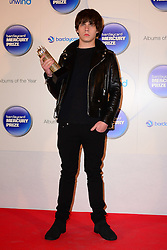 Mercury Prize. <br /> Jake Bugg attends the Barclaycard Mercury Prize at The Roundhouse, London, United Kingdom. Wednesday, 30th October 2013. Picture by Nils Jorgensen / i-Images