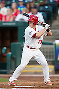Cody Stanley (10) of the Springfield Cardinals stands at bat during a game against the Northwest Arkansas Naturals at Hammons Field on August 23, 2013 in Springfield, Missouri. (David Welker)
