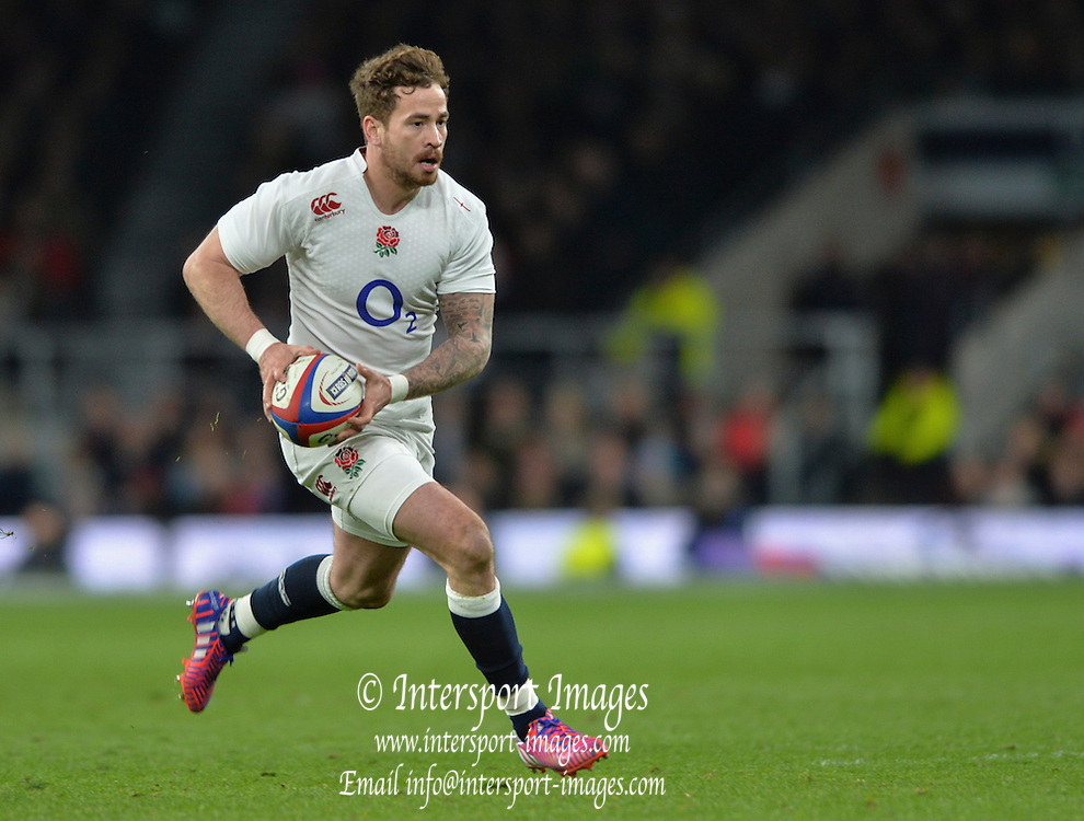 Twickenham, Great Britain, Danny CIPRIANI, during the Six Nations Rugby England vs France, played at the RFU Stadium, Twickenham, ENGLAND. <br /> <br /> Saturday   21/03/2015<br /> <br /> [Mandatory Credit; Peter Spurrier/Intersport-images]