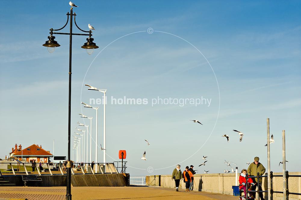 Hornsea seafront promenade