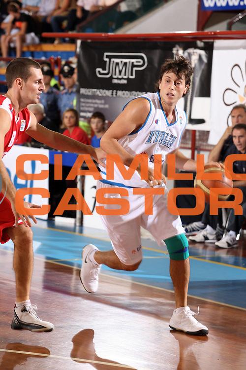 DESCRIZIONE : Porto San Giorgio Qualificazione Eurobasket 2009 Italia Ungheria<br /> GIOCATORE : Marco Mordente<br /> SQUADRA : Nazionale Italia Uomini <br /> EVENTO : Raduno Collegiale Nazionale Maschile <br /> GARA : Italia Ungheria Italy Hungary<br /> DATA : 10/09/2008 <br /> CATEGORIA : palleggio<br /> SPORT : Pallacanestro <br /> AUTORE : Agenzia Ciamillo-Castoria/F.Zeppilli