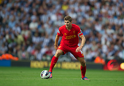 WEST BROMWICH, ENGLAND - Saturday, August 18, 2012: Liverpool's captain Steven Gerrard in action against West Bromwich Albion during the opening Premiership match of the season at the Hawthorns. (Pic by David Rawcliffe/Propaganda)