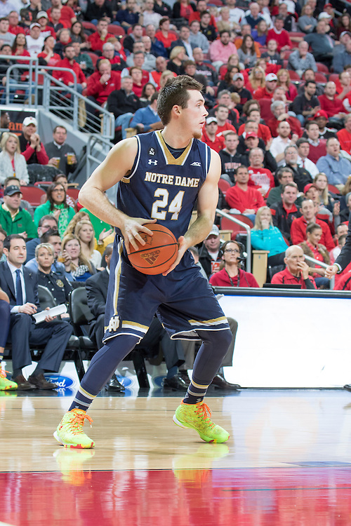 Notre Dame guard/forward Pat Connaughton. <br /> <br /> The University of Louisville hosted the Notre Dame, Wednesday, March 04, 2015 at Yum Center in Louisville. <br /> <br /> Photo by Jonathan Palmer