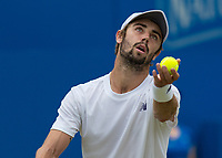 Tennis - 2017 Aegon Championships [Queen's Club Championship] - Day Four, Thursday <br /> <br /> Men's Singles: Round of 16 - Jordan THOMPSON (AUS) vs Sam QUERREY (USA)<br /> <br /> Jordan Thompson (AUS) serves at Queens Club<br /> <br /> COLORSPORT/DANIEL BEARHAM