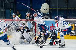 26.12.2018, Ice Rink, Znojmo, CZE, EBEL, HC Orli Znojmo vs Fehervar AV 19, 31. Runde, im Bild v.l. Teemu Tapio Lassila (HC Orli Znojmo)Zack Phillips (Fehervar AV19) Dominik Tejnor (HC Orli Znojmo) Istvan Sofron (Fehervar AV19) // during the Erste Bank Eishockey League 31th round match between HC Orli Znojmo and Fehervar AV 19 at the Ice Rink in Znojmo, Czechia on 2018/12/26. EXPA Pictures © 2018, PhotoCredit: EXPA/ Rostislav Pfeffer