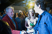 DAVID BAILEY; SAM TAYLOR-WOOD; AARON JOHNSON; , Nokia and Daid Bailey celebrate London ' Alive at Night' to launch Nokia N86. the Old Dairy, 6 Wakefield st. London. WC1. 26 August 2009.