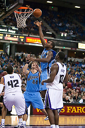 October 23, 2009; Sacramento, CA, USA;  Utah Jazz forward Paul Millsap (24) shoots against the Sacramento Kings during the fourth quarter at the ARCO Arena.  The Jazz won 95-85.
