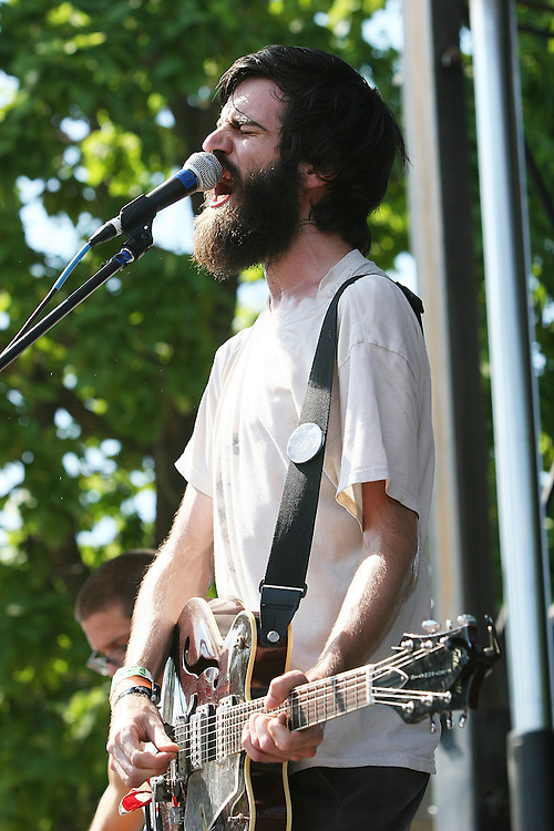 CHICAGO - JULY 17:  Ian Graetzer of Titus Andronicus performs onstage  during the 2010 Pitchfork Music Festival at Union Park on July 17, 2010 in Chicago, Illinois.  (Photo by Roger Kisby/Getty Images)