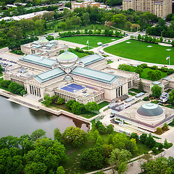 Aerial Picture of Museum of Science and Industry in Chicago.