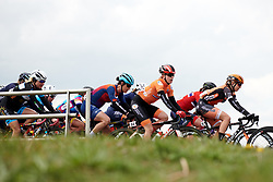 Julia Soek (NED) in the bunch as the race comes back together at Healthy Ageing Tour 2019 - Stage 5, a 124.3 km road race in Midwolda, Netherlands on April 14, 2019. Photo by Sean Robinson/velofocus.com