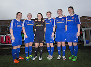 Forfar Farmington have signed six new players for the 2017 SWPL 2 season, they are  left to right: Alison Debio, Laura Parsley, Chantelle McKay, Lynsey Tugman, Suzie Adam, Beth Warwick. Photo: David Young<br /> <br />  - &copy; David Young - www.davidyoungphoto.co.uk - email: davidyoungphoto@gmail.com