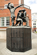 The National Firefighters Memorial sculpture, Jubilee Walkway, City of London, London