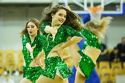 Dragon ladies dance group during basketball match between KK Union Olimpija and KK Cedevita Round 25# of ABA League 2016/17, on March 5th, 2017 in Hala Tivoli, Ljubljana Slovenia. Photo by Grega Valancic / Sportida