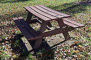 picnic bench made out of recycled plastic