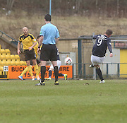 Peter MacDonald curls home a free kick to put Dundee ahead v Livingston - Livingston v Dundee - SPFL Championship at Almondvale <br />  - &copy; David Young - www.davidyoungphoto.co.uk - email: davidyoungphoto@gmail.com