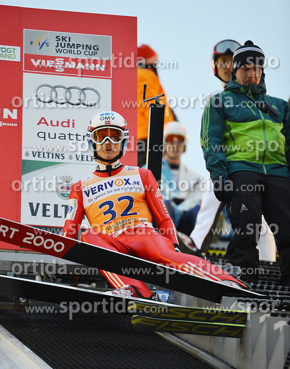 21.11.2014, Vogtland Arena, Klingenthal, GER, FIS Weltcup Ski Sprung, Klingenthal, Herren, HS 140, Qualifikation, im Bild Tom Hilde (NOR) // during the mens HS 140 qualification of FIS Ski jumping World Cup at the Vogtland Arena in Klingenthal, Germany on 2014/11/21. EXPA Pictures &copy; 2014, PhotoCredit: EXPA/ Eibner-Pressefoto/ Harzer<br /> <br /> *****ATTENTION - OUT of GER*****