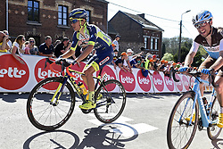 April 18, 2018 - Huy, Belgique - HUY, BELGIUM - APRIL 18 : MARTIN Guillaume of Wanty - Groupe Gobert during the 82th edition of the UCI World Tour Ardennes Classics cycling race Fleche Wallonne with start in Seraing and finish in Huy on April 18, 2018 in Huy, Belgium, 18/04/2018 (Credit Image: © Panoramic via ZUMA Press)