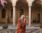 MIlano , Marta Marzotto con la nipote isabella Borromeo