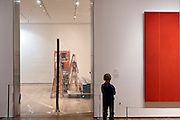 "gallery closed for installation of a new show at the Museum of Modern Art in New York with Bernett Newman ""Vir Heroicus Sublimis"" (1950-1951)"