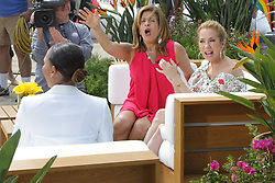 The Today Show starring Kathie Lee Gifford and Hoda Kotb filmed on Venice Beach on Friday. Guests were Mel B, who was presented a cake for her upcoming birthday, and Chrissy Metz. Hoda and Kathie Lee enjoyed a tailgate ride on an LA lifeguard truck. 25 May 2018 Pictured: Mel B, Hoda Kotb, Kathie Lee Gifford. Photo credit: Leah / MEGA TheMegaAgency.com +1 888 505 6342